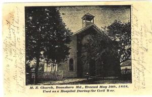 Historic photo of M.E. Church in Boonsboro